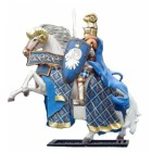 Blauer Ritter auf Pferd