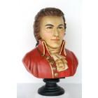 Mozart Büste bemalt