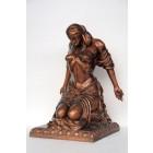 Kniende Lady mit verbundenen Augen Bronze