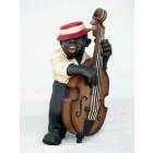 Lustiger Jazz Bassist