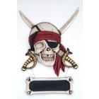 Piratenkopf mit Schild