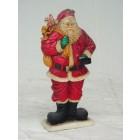 Weihnachtsmann mit Kerzenhalter mittel 2D