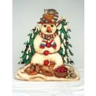 Schneemann mit Kerzenhalter 2D