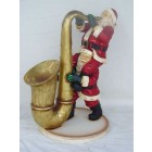 Weihnachtsmänner mit Saxophon