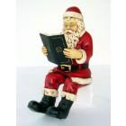 Weihnachtsmann Buch lesend klein