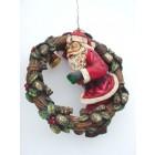 Weihnachtsmann im Adventskranz klein