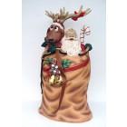 Weihnachtsmann im Sack mit Rentier