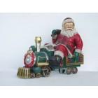 Weihnachtsmann im Zug
