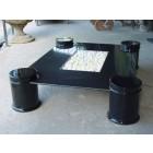 Deko Tisch mit Graniteinlage