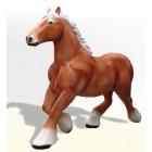 Großes Comic Pferd