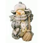 Schneemann mit Besen klein