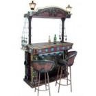 Piratenbar mit zwei Stühlen