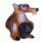 Kleines Säbelzahneichhörnchen mit Eichel Scrat
