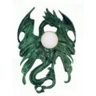 Drachenwandlampe mit Kugelglas
