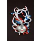 Erotik Maske Blau-Rot