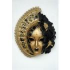 Maske Stella Gold-Schwarz