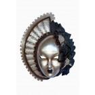 Maske Stella Silber-Schwarz