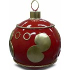 Weihnachtskugel strukturiert Rot