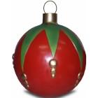 Weihnachtskugel strukturiert Klein Rot-Grün