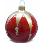 Weihnachtskugel strukturiert Klein Rot-Gold