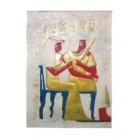 weißes Wandgemälde ägyptisch