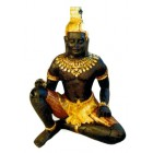 Mayafigur groß mit Goldbemalung