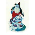 Weihnachtsmann laufend durch Schnee klein