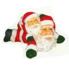 liegende Weihnachtsmänner klein