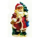 Weihnachtsmann mit Teddy unter dem Arm