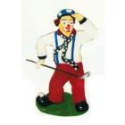 Golfer als Clown klein