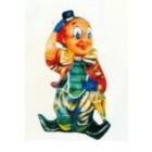 Clown klein mit Hut und Schirm