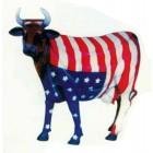 große Designerkuh mit Amerikaflagge