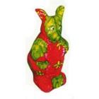 stehender Hase klein mit Erdbeerbemalung