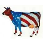 Design Kuh groß mit amerikanischer Bemalung