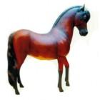 braunes kleines Pferd mit dunkler Mähne