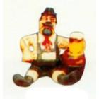 lustiger Bayer sitzend mit Bierglas