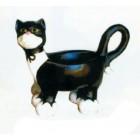 Kätzchen mit Schleife als Gefäß