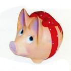 Schwein mit Schleife
