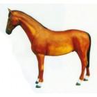 lebensgroßes hellbraunes Pferd stehend