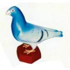 Taube graublau mit braunem Fuß