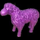Schaf Glitzer lila