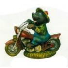 Maulwurf auf Motorrad klein