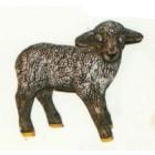 kleines stehendes Schaf schwarz