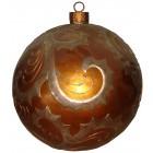 Weihnachtskugel mit  Reliefmuster metallicbraun