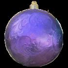Weihnachtskugel mit  Reliefmuster metalliclila