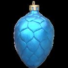 Weihnachtszapfen Blau
