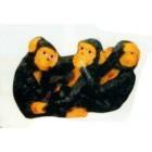 3 Affen einzeln Nichts sehen hören sprechen
