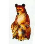 stehende Bärenfamilie klein