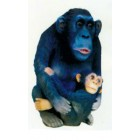 Affenmutter mit Kind im Arm