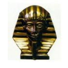 ägyptische Büste braun gold